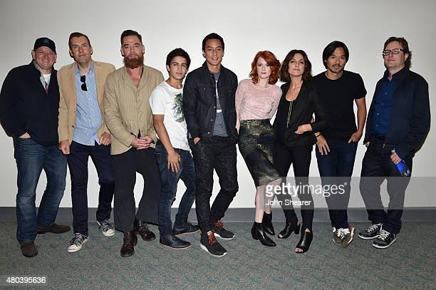 Writer/producers Alfred Gough and Miles Millar actors Marton Csokas Aramis Knight Daniel Wu Emily Beecham and Orla Brady producer Stephen Fung and...