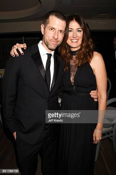 Writer/producers D B Weiss and Andrea Troyer attend HBO's Official Golden Globe Awards After Party at Circa 55 Restaurant on January 8 2017 in...