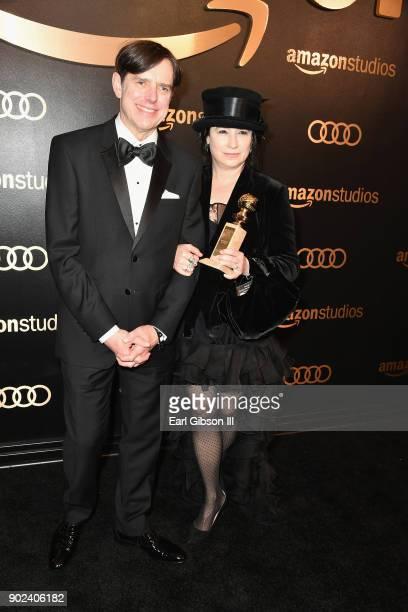 Writer/producers Daniel Palladino and Amy ShermanPalladino attend Amazon Studios' Golden Globes Celebration at The Beverly Hilton Hotel on January 7...