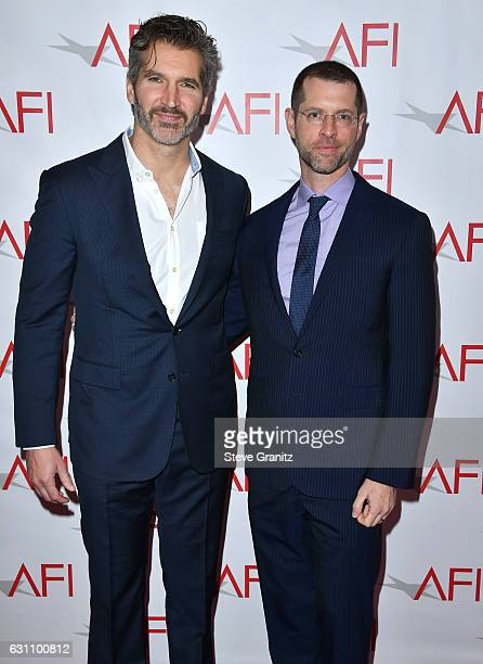 Writer/producers David Benioff and D B Weiss attend the 17th annual AFI Awards at Four Seasons Los Angeles at Beverly Hills on January 6 2017 in Los...
