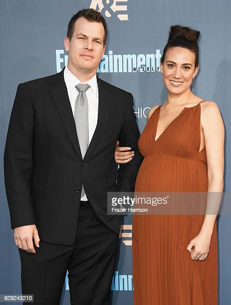 Writer/producers Jonathan Nolan and Lisa Joy attend The 22nd Annual Critics' Choice Awards at Barker Hangar on December 11 2016 in Santa Monica...