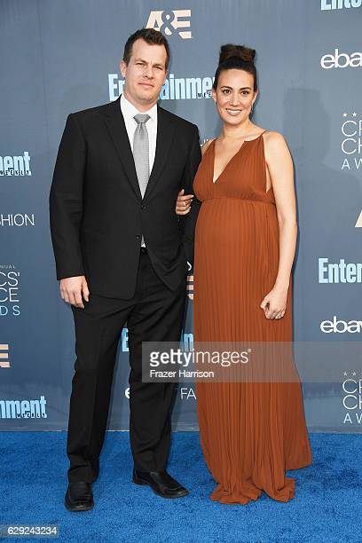 Writer/producers Jonathan Nolan and Lisa Joy attend The 22nd Annual Critics' Choice Awards at Barker Hangar on December 11 2016 in Santa Monica...