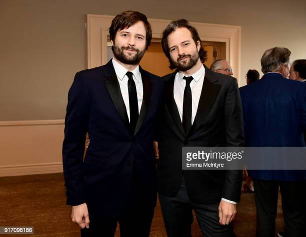 Writer/producers Ross Duffer and Matt Duffer attend the 2018 Writers Guild Awards LA Ceremony at The Beverly Hilton Hotel on February 11 2018 in...