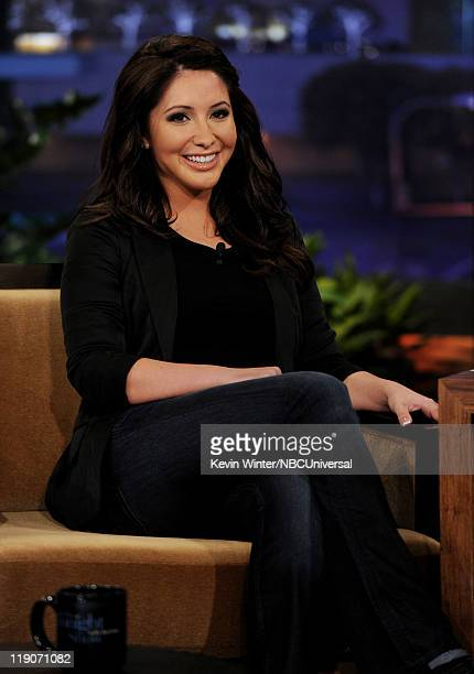 Writer/reality show personality Bristol Palin appears on The Tonight Show with Jay Leno at the NBC Studios on July 14 2011 in Burbank California