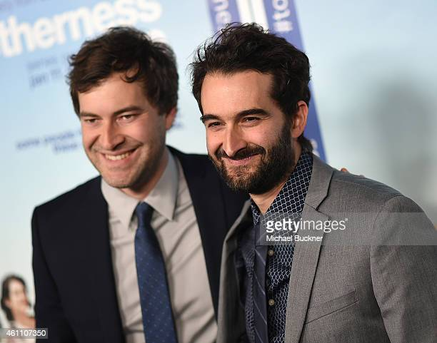Writers and actors Mark and Jay Duplass attend the premiere of HBO's Togetherness at Avalon on January 6 2015 in Hollywood California