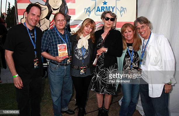 Writers and cast of Rock 'n' Roll High School Loren Lester Russ Dvonch Dey Young Mary Woronov PJ Soles and Richard Whitley attend the The 6th Annual...
