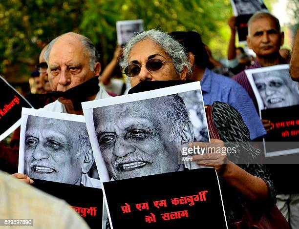 Writers and Cultural activists on a silent protest march from Shree Ram Centre to Sahitya Akademi to urge the latter to take a strong stand against...