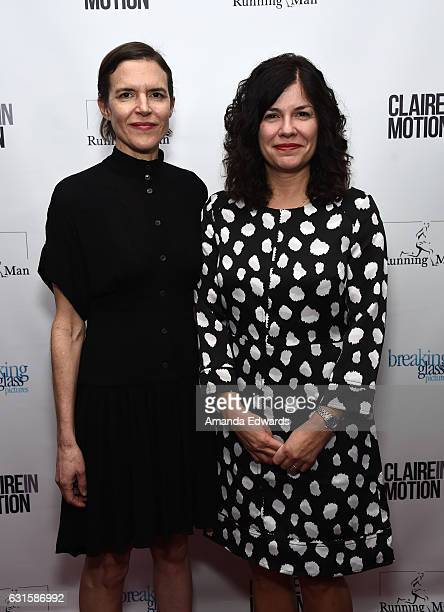 Writers and directors Lisa Robinson and Annie J Howell arrive at the premiere of Breaking Glass Pictures' 'Claire In Motion' at the Laemmle Monica...