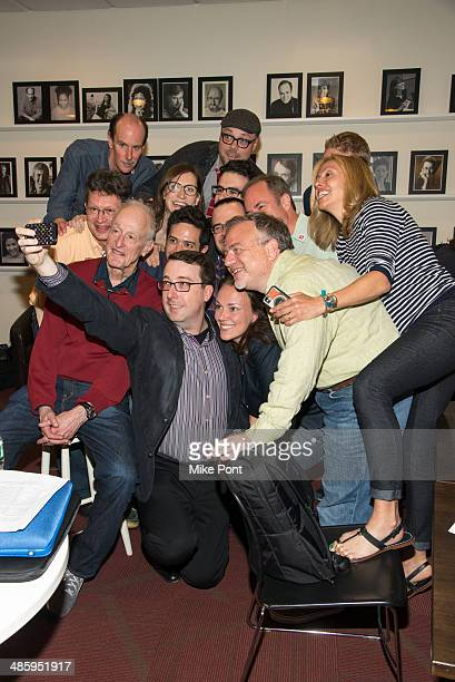 Writers and Members pose for a selfie at the 2014 AntiPiracy Awareness event at The Dramatists Guild of America on April 21 2014 in New York City