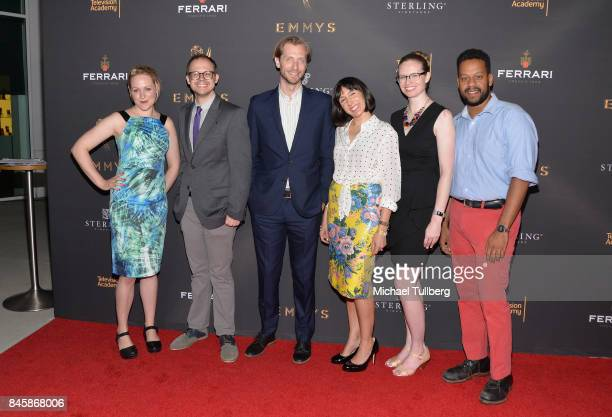 Writers Ariel Dumas Daniel Kibblesmith Gabe Gronli Jen Spyra Kate Sidley and John Thibodeaux attend the Television Academy's celebration for Emmy...