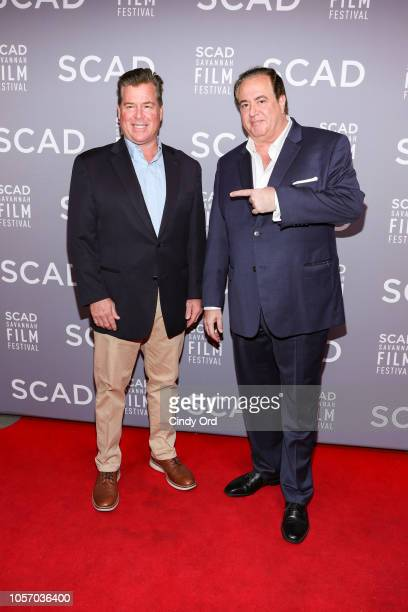 Writers Brian Hayes Currie and Nick Vallelonga attend the 21st SCAD Savannah Film Festival on November 3 2018 in Savannah Georgia