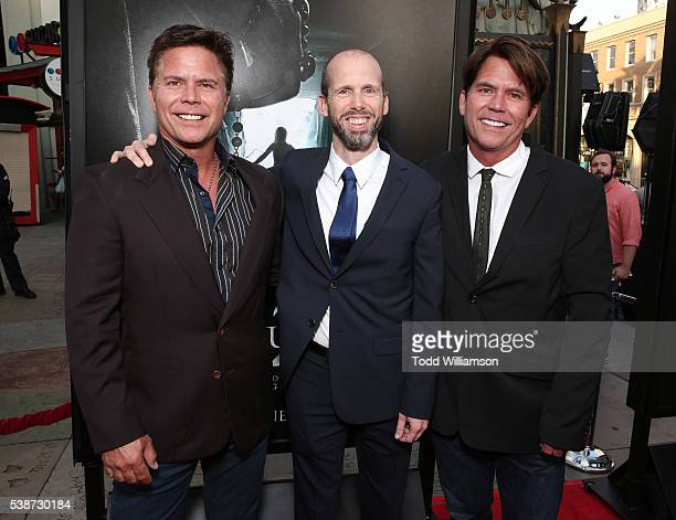 Writers Carey Hayes David Leslie Johnson and Chad Hayes attend the Los Angeles Film Festival The Conjuring 2 Premiere at TCL Chinese Theatre IMAX on...