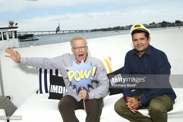 Writers Carlton Cuse and Graham Roland attend the #IMDboat At San Diego ComicCon 2018 Day Two at The IMDb Yacht on July 20 2018 in San Diego...