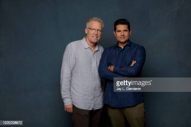 Writers Carlton Cuse and Graham Roland from 'Jack Ryan' are photographed for Los Angeles Times on July 20 2018 in San Diego California PUBLISHED...