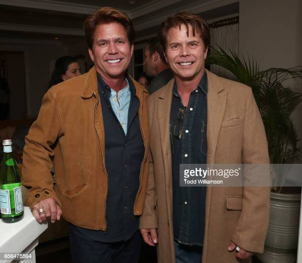 Writers Chad Hayes and Carey Hayes attend a party for the 20th Anniversary of the Savannah Film Festival hosted by CAA Agent Tracy Brennan and...