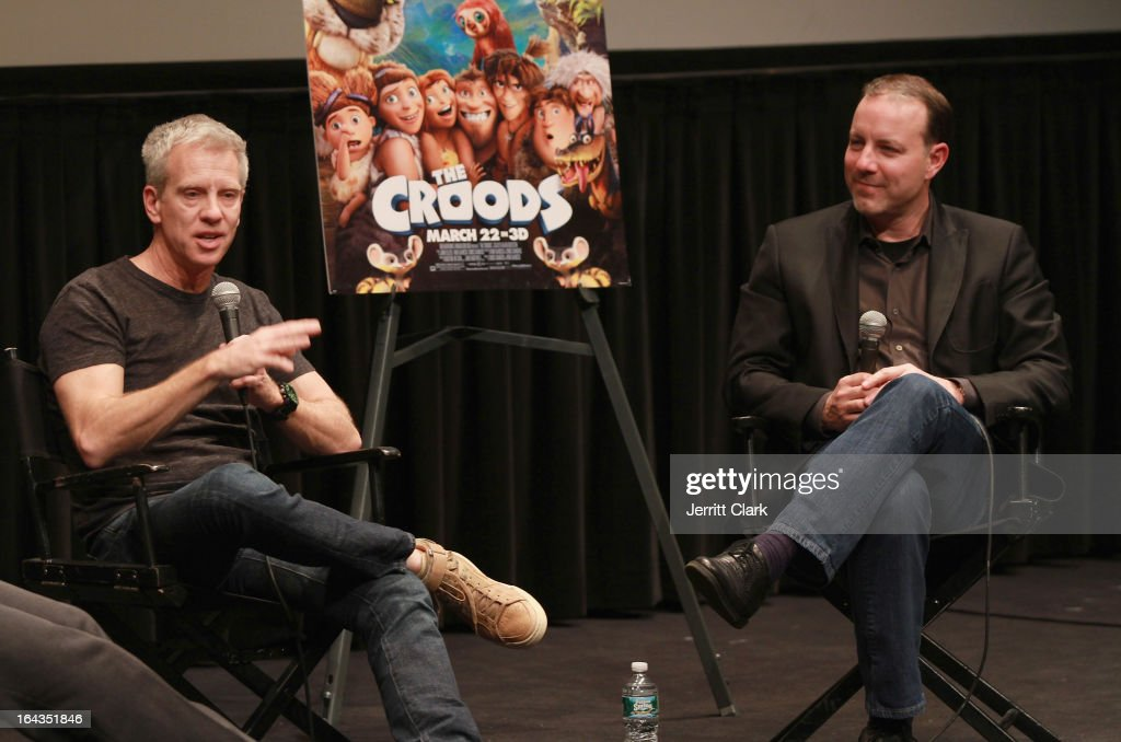 Writers Chris Sanders and Kirk De Micco attends 'The Croods' screening at The Film Society of Lincoln Center, Walter Reade Theatre on March 13, 2013 in New York City.