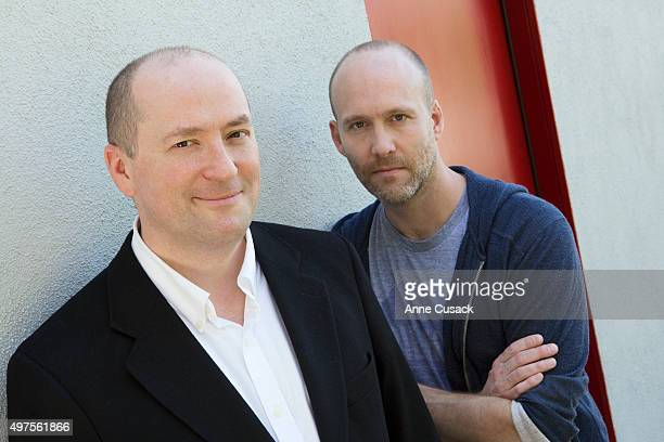 Writers Christopher Markus Stephen McFeely are photographed for Los Angeles Times on March 18 2014 in Los Angeles California PUBLISHED IMAGE CREDIT...
