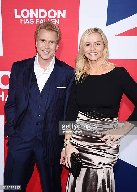 Writers Creighton Rothenberger Katrin Benedikt attends the premiere of Focus Features' 'London Has Fallen' held at ArcLight Cinemas Cinerama Dome on...