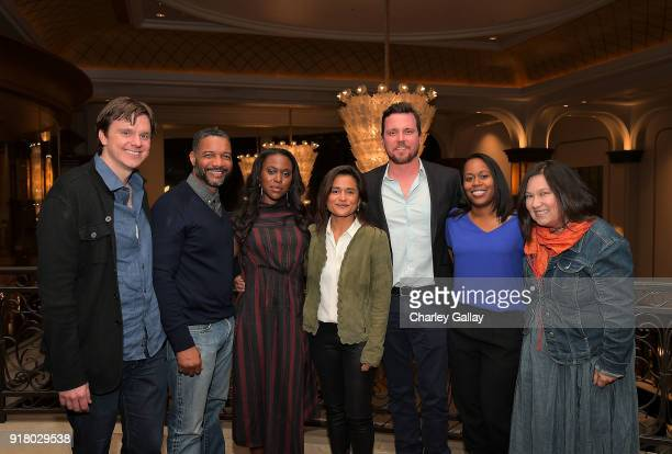 Writers Dan Nowak and David Shanks actress ClareHope Ashitey creator and executive producer Veena Sud actor Michael Mosley and writers Shalisha...