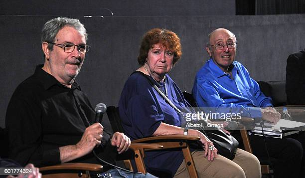 Writers David Gerrold DC Fontana and effects artist Barry Mason at the Star Trek 50th Anniversary Celebration Star Trek The Motion Picture held at...