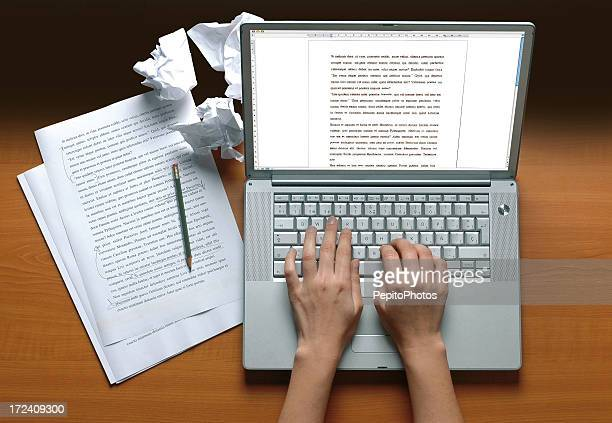 writer's desk - authors stock photos and pictures
