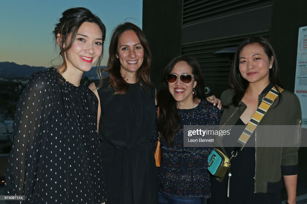Writers Erica Oyama, Elissa Matsueda, Rita Hsiao and Adele Lim attend Writers Guild Of America West Hosts Behind The Screen Summer 2018 Reception at The Roof On Wilshire on June 13, 2018 in Los Angeles, California.