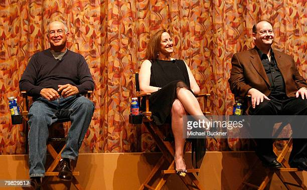 Writers Gary David Goldberg Cindy Chupack and Marc Cherry attend the That's Not Funny panel discussion hosted by Humanitas at the Writer's Guild...