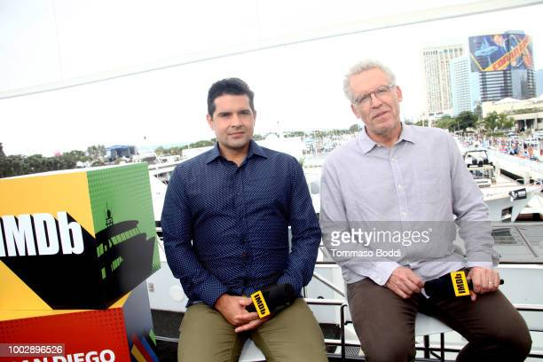 Writers Graham Roland and Carlton Cuse attends the #IMDboat At San Diego ComicCon 2018 Day Two at The IMDb Yacht on July 20 2018 in San Diego...