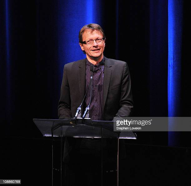 Writer's Guild of America East executive director Lowell Peterson attends the 63rd annual Writers Guild Awards at the AXA Equitable Center on...