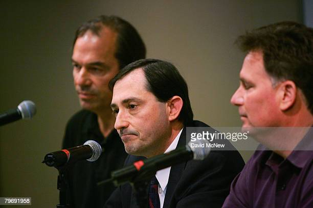 Writers Guild of America Negotiating Committee Chair John Bowman Writers Guild of America West president Patric Verrone and Executive Director and...