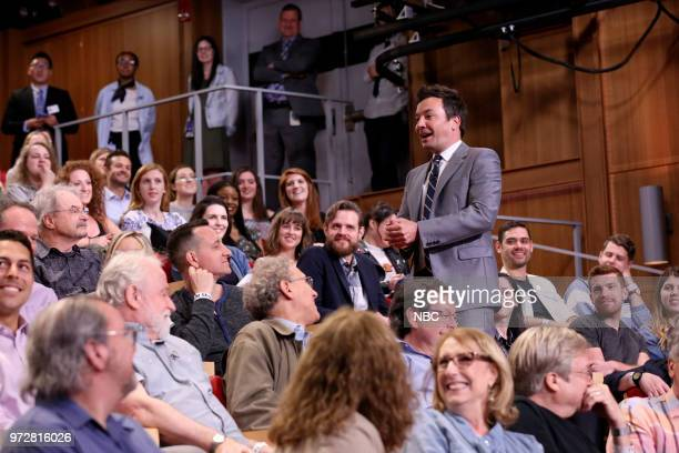 Host Jimmy Fallon during an FYC Panel on June 12 2018