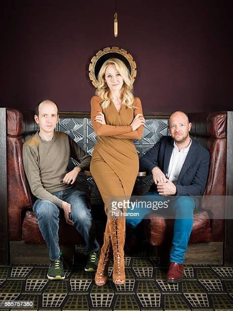 Writers Jack Thorne JK Rowling and John Tiffany are photographed for the Observer on June 5 2016 in London England