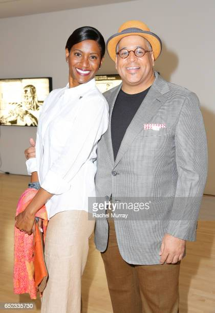 Writers Janine Sherman Barrois and Lyndon Barrois attend MOCA's Leadership Circle and Members' Opening of Kerry James Marshall Mastry at MOCA Grand...