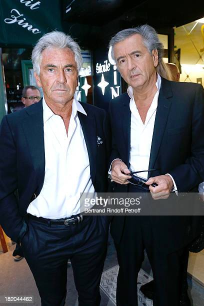 Writers JeanPaul Enthoven and BernardHenri Levy attend 'Opium' movie Premiere held at Cinema Saint Germain in Paris on September 27 2013 in Paris...