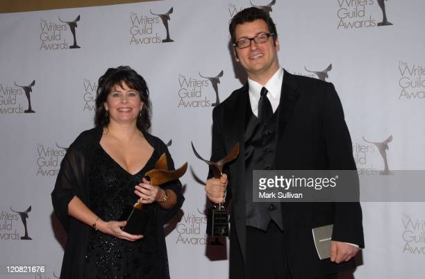 Writers Jessica Scott and Erik Patterson pose in the press room at the 2010 Writers Guild Awards held at the Hyatt Regency Century Plaza Hotel on...