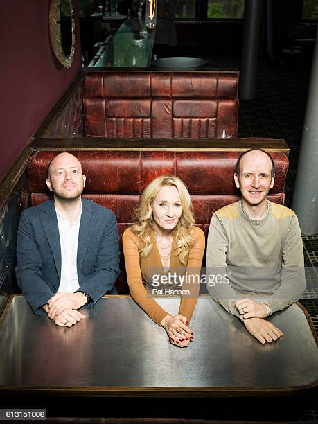Writers JK Rowling John Tiffany and Jack Thorne are photographed for the Observer on June 5 2016 in London England