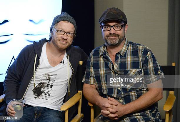 Writers John Fawcett and Graeme Manson attends day 2 of the WIRED Cafe at ComicCon on July 19 2013 in San Diego California