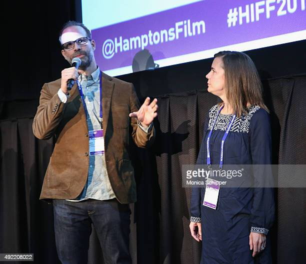 Writers Joseph Castelo and Ashley Rudden attend 'The Great Alone' photocall during Day 3 of the 23rd Annual Hamptons International Film Festival on...