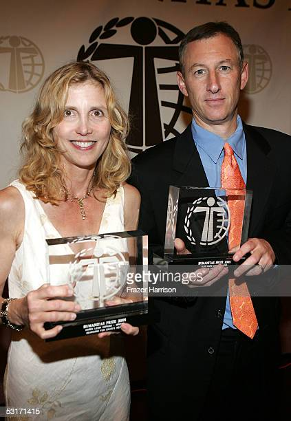 Writers Karen Leigh Hopkins and Alan Marc Levy winners of the Children's Live Action category at the 31st Humanitas Prize ceremony held at the Hilton...