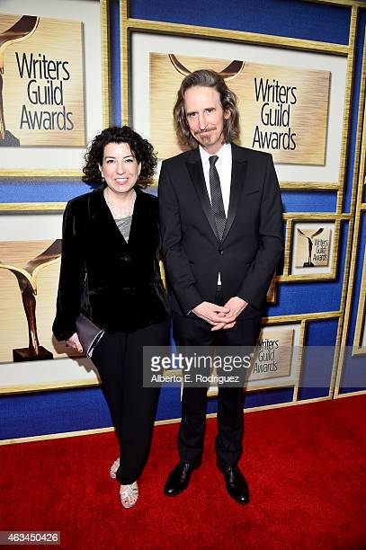 Writers Kate Powers and Ray McKinnon attend the 2015 Writers Guild Awards L.A. Ceremony at the Hyatt Regency Century Plaza on February 14, 2015 in...