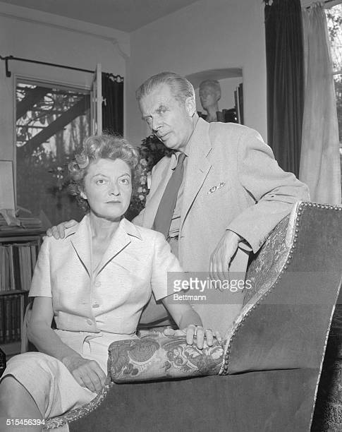 Writers Laura and Aldous Huxley in their home in London England