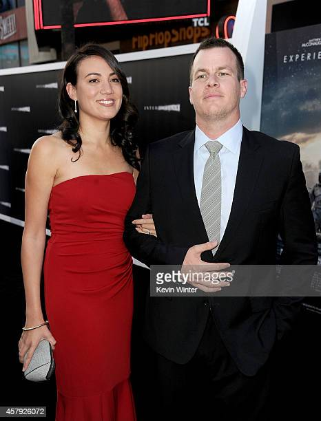 Writers Lisa Joy and Jonathan Nolan attend the premiere of Paramount Pictures' Interstellar at TCL Chinese Theatre IMAX on October 26 2014 in...