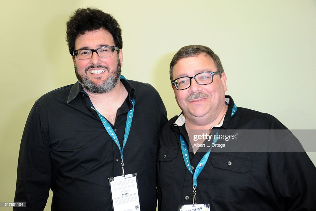 Writers Mark Altman and Ed Gross on Day 1 of WonderCon held at Los Angeles Convention Center on March 25, 2016 in Los Angeles, California.