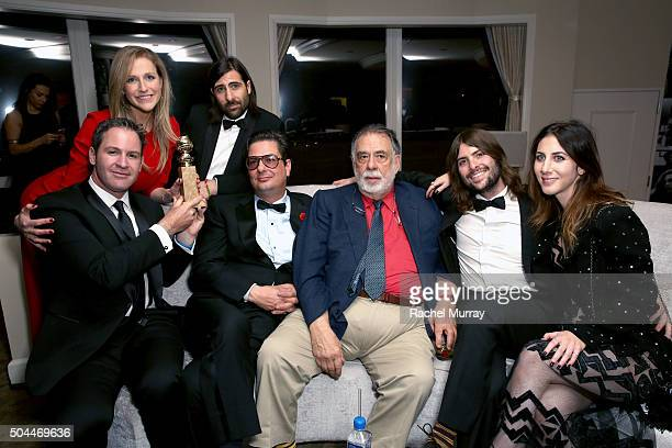 Writers Matthew Shire and Kate Gersten, actor/producer Jason Schwartzman and producer Roman Coppola, winners of Best Series - Musical or Comedy for...