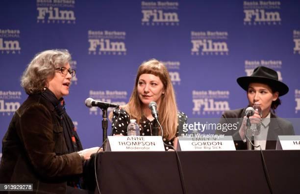 Writers Michael H Weber Virgil Williams and Edgar Wright speak at The Writers Panel during The 33rd Santa Barbara International Film Festival at...