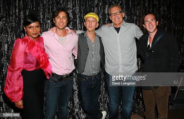 Writers Mindy Kaling Brad Falchuk Ryan Murphy Carlton Cuse and Ian Brennan attend the Writers Guild of America West and the Writers Guild...