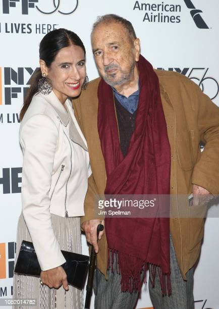 Writers Nahal Tajadod and JeanClaude Carriere attend the 56th New York Film Festival premiere of 'At Eternity's Gate' at Alice Tully Hall Lincoln...