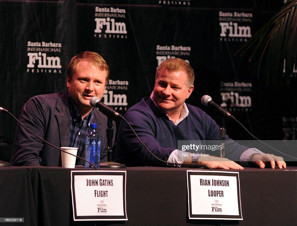 Writers Rian Johnson and David Magee attends the 28th Santa Barbara International Film Festival Writers Panel at the Lobero theatre on January 26, 2013 in Santa Barbara, California.