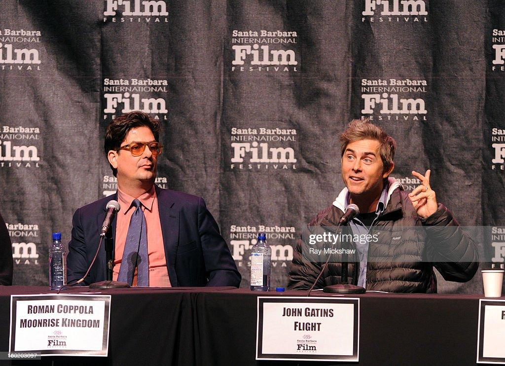 Writers Roman Coppola and John Gatins attends the 28th Santa Barbara International Film Festival Writers Panel at the Lobero theatre on January 26, 2013 in Santa Barbara, California.