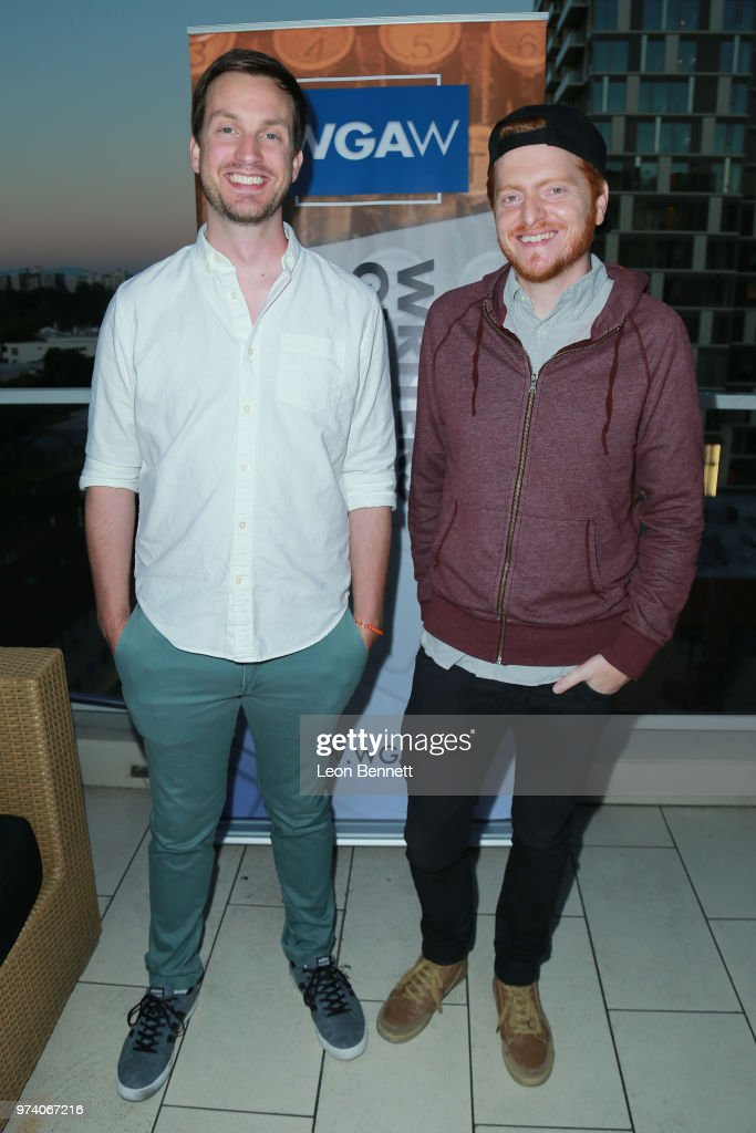 Writers Scott Beck and Bryan Woods attend Writers Guild Of America West Hosts Behind The Screen Summer 2018 Reception at The Roof On Wilshire on June 13, 2018 in Los Angeles, California.